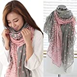 H-vuality-C Ladies Scarves Elegant Party with Scarf(Grey)