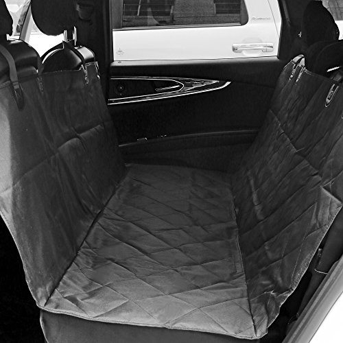 aLLreli Pet Car Seat Cover Hammock for Cars, Trucks, and Suv's – Black, Waterproof & Nonslip Backing Review