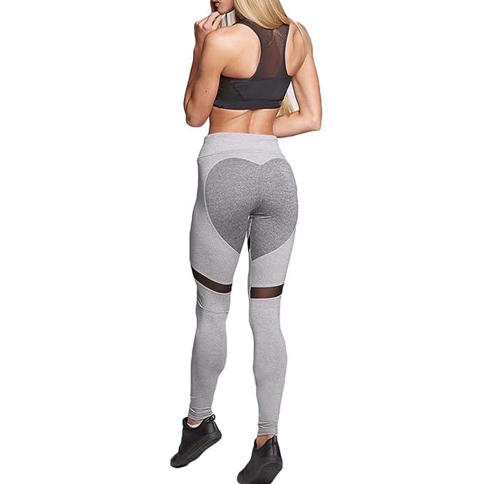 07111ebd3c4a Highdas Donne Ghette Yoga Pantaloni - Signore Sport Ghette Maglia Stretto  Pantaloni Esecuzione Pantaloni Alto Vita Allenarsi Dimagrante Tuta  Leggings: ...