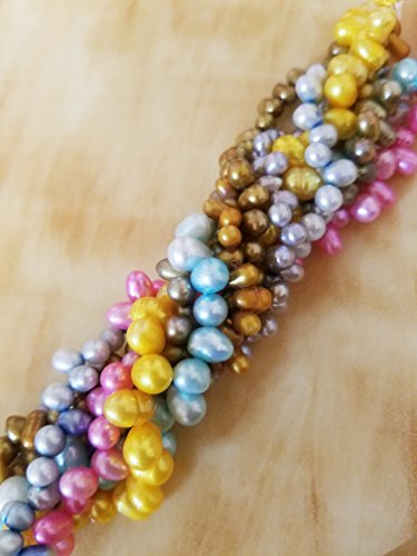 justgiftgem-assorted-8-colours-top-drilled-oval-freshwater-pearls-bulk-lot-beads-mixed-beads-strand-
