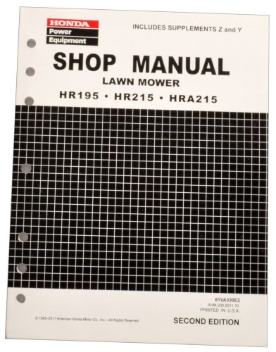 Honda HR195 HR215 HRA215 Lawn Mower Service Repair Shop - Honda Lawn Equipment