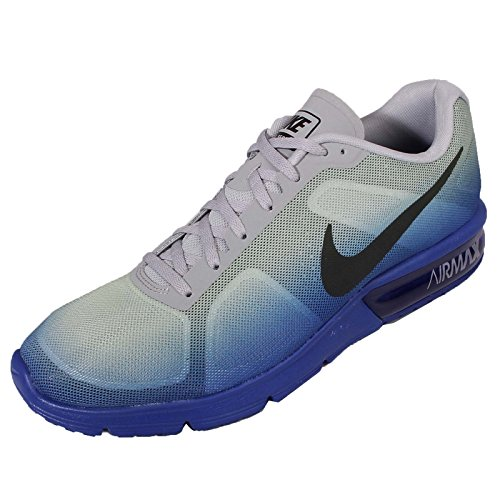 Nike Air Max Mens Sequent, Blu Racer / Nero-lupo Grigio-bianco, 8 M Di Noi