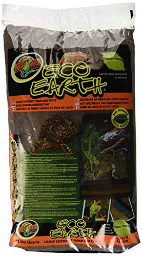 Zoo Med 26084 Eco Earth Loose Bag, 24 Quart (Best Ball Python Enclosure)