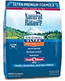 Natural Balance Small Breed Bites Original Ultra Whole Body Health Chicken, Chicken Meal, Duck Meal Formula Dry Dog Food, 12-Pound