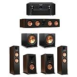Klipsch 5.2 Walnut System with 2 RP-280F Tower Speakers, 1 RP-450C Center Speaker, 2 Klipsch RP-150M Bookshelf Speakers, 2 Klipsch R-115SW Subwoofer, 1 Marantz SR7011 A/V Receiver