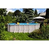 QCA Spas 206SD1530 Sunscape 15 by 30-Feet and 52-Inch Deep Oval Above Ground Pool with Blue Overlap Liner