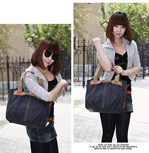 Casual Vintage handbags Daily Purse WomenLadies Hobo Top Coffee Canvas wq5dpdR