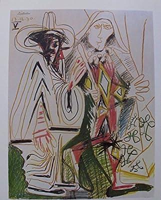 Picasso Vintage Poster Galerie Felix Vercel Paris 1972 Lithograph Plate Signed