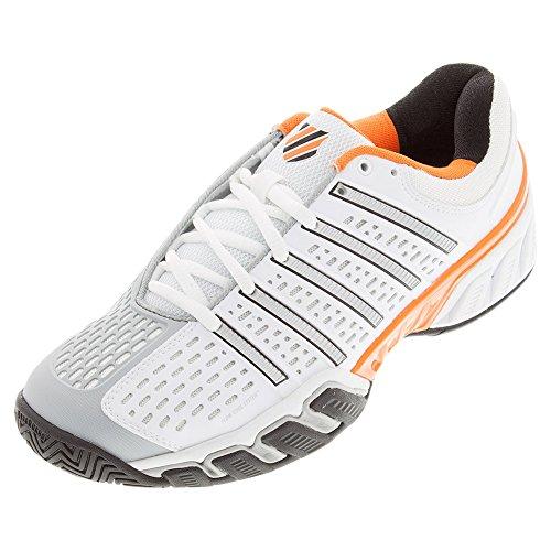 K-Swiss Men's Bigshot 2.5 Tennis Shoes (White/Black/Orange) (8.5 D(M) US)
