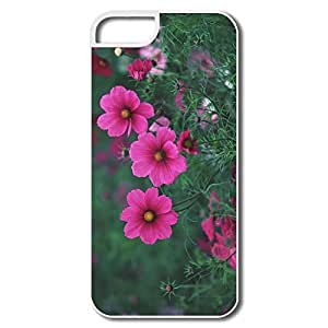 IPhone 5/5S Cases, Small Pink Flowers White Cases For IPhone 5 5S