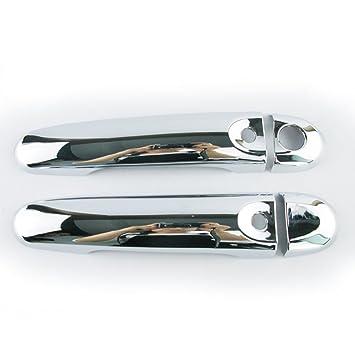 Tapa para manillar de puerta con 3 agujeros para llaves de yute 2011 2012 2013 2014 2015 2016 2017 cromado accesorios para el estilo de coche: Amazon.es: ...