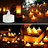 6PC LED Candles Light, Battery-Powered Flameless Retro Lamp Decoration Bulb (Yellow)