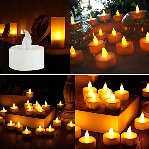 LiPing 6PCS LED Tea Light Candles Realistic Battery-Powered Flameless Candles Light Night Light, Relaxing Light Show for Bedroom Living Room (A) by LiPing (Image #2)