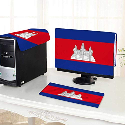 UHOO2018 Computer Three-Piece dust Cover Vector Cambodia Flag Cambodia Flag Cambodia Flag Cambodia Flag Protect Your Computer /25