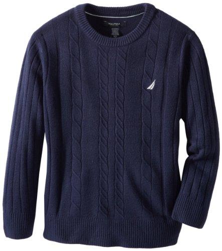 Nautica Boys 8-20 Cable Crew Sweater
