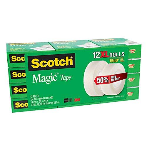 3M Scotch Magic Tape, 12-count - (2 Packs)