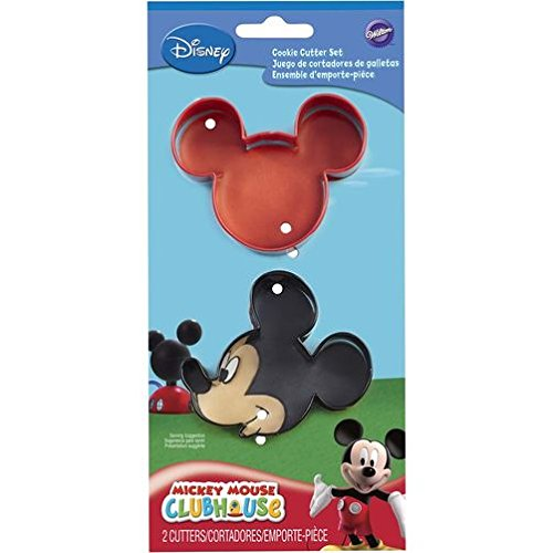 1 X Cookie Cutters 2/Pkg-Mickey Mouse (Cookie Cutter Mickey Metal Mouse)