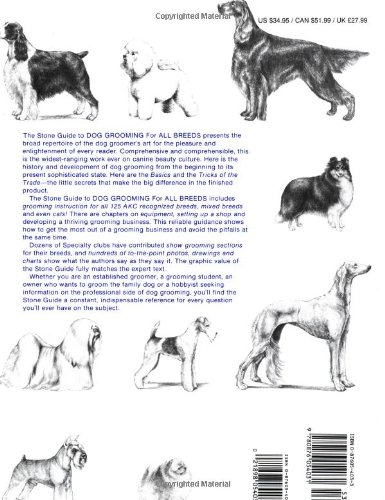 the stone guide to dog grooming for all breeds ben stone pearl rh amazon com dog grooming guidepost dog grooming guide all breeds