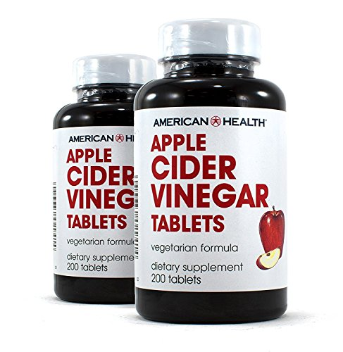 American Health Apple Cider Vinegar Tablets Pack of 2 (Best Vinegar For Health)