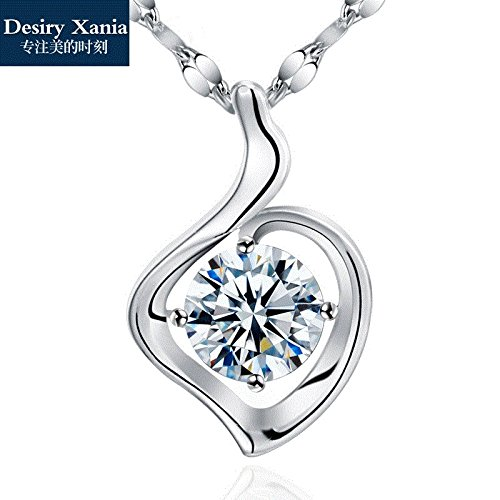 - Generic s_platinum_ silver pendant necklace women girl 18k golden _ossicular_ chain birthday gift custom lettering _free