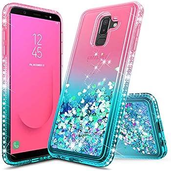 meet 998d1 2e63e Amazon.com: Samsung J8 2018 Furry Case with Ears, Galaxy J8 2018 ...
