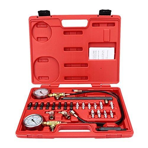 KKmoon Brake Pressure Tester ABS Braking System Testing Gauge Kit Garage Test Tool