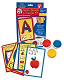 Hygloss Products, Play Dough Language Kit, Upper Case Letters A-Z, 32 Write & Wipe Cards with Dough