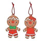 12 Big Head Gingerbread Ornament Craft Kit/Craft Kits/Christmas Ornaments/Holiday