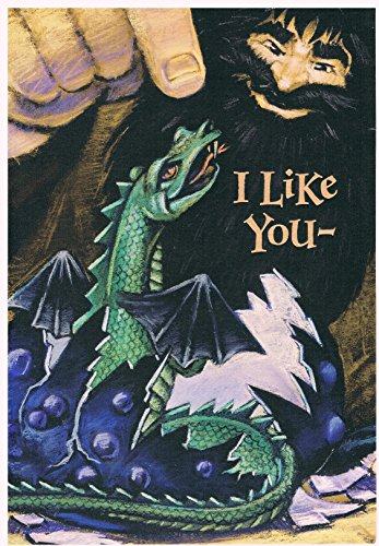 Harry Potter Magical Creatures Halloween Card with Bookmark, Envelope & USPS Postage Stamp ()