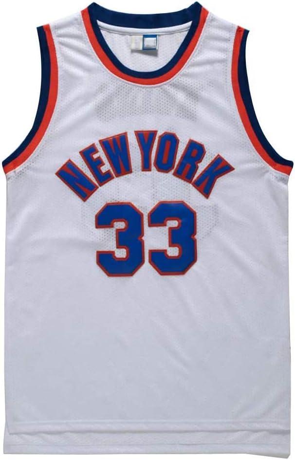 YB-DB NBA Jersey NBA # 33 Patrick Ewing New York Knicks Transpirable Resistente al Desgaste Uniforme del Ventilador Edici/ón Baloncesto Fitness Sport Camiseta,Azul,S
