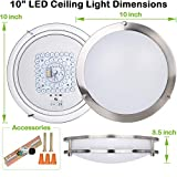 10 inch Flush Mount LED Ceiling Light Fixture, 17W