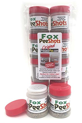 Predator Pee Fox Pee Shots - Territorial Marking Scent - Creates Illusion That Fox is Nearby - 8 Pack