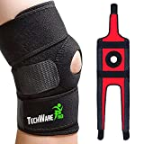 TechWare Pro Knee Brace Support - Relieves ACL, LCL, MCL, Meniscus Tear, Arthritis, Tendonitis Pain. Open Patella Dual Stabilizers Non Slip Comfort Neoprene. Adjustable Bi-Directional Straps - Large