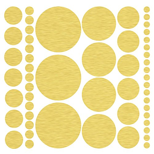 Assorted Size Gold Polka Decals product image