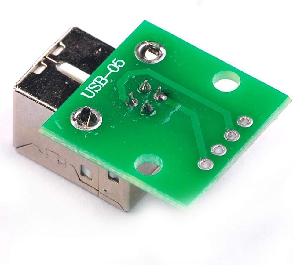 YOUMILE 10er Pack DIY Stecker//Mini Micro USB zu DIP Adapter 2.54mm 5pin Buchse B Typ USB2.0 Buchse PCB Converter USB 3.0