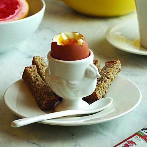 RSVP Porcelain Egg Cups and Spoons, Set of 4 by RSVP International (Image #5)