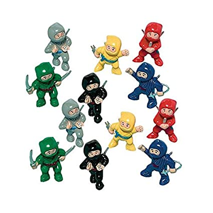 Amscan Fun-Filled Birthday Party Mini Ninja Action Figure Favour (Value Pack of 24)