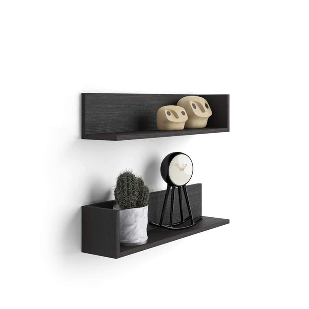Mobili Fiver, Regalpaar Luxury, laminiert, aus Beton, 75 75 75 x 16,5 x 16,5 cm ffb862