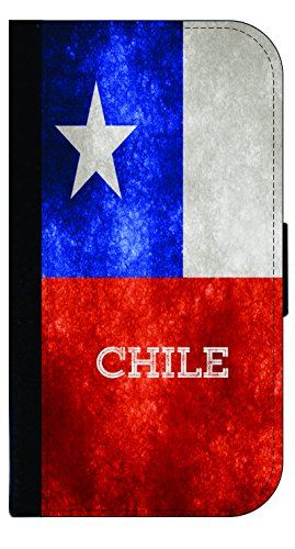 Chile Grunge Flag - Wallet Style Flip Phone Case Compatible with s3/s4/s5/s6/s6edge/s7/s7edge/s8/s8Plus - Select Your Compatible Phone Model