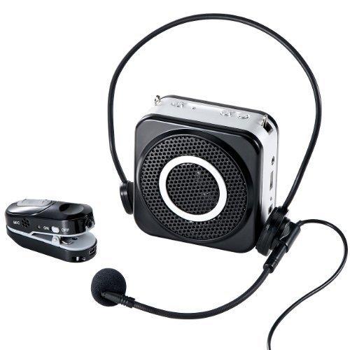 イーサプライ ワイヤレスマイク スピーカーセット ハンズフリー拡声器 小型 10W 最大20m EZ4-SP048 B00GWW59YM