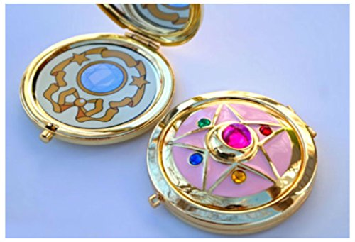 Sailor Crystal Star Compact Brooch Locket Functional CosPlay Doll Prop