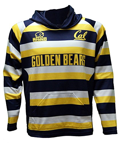 Rhino Rugby Cal Golden Bears Rugby Hoodie, X-Large (Official Away Replica Jersey Personalized)