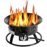 CO-Z Portable & Smokeless Propane Firepit Kit for Outside, Outdoor Gas Fire Pit for Camping, Backyards, Patios or Tailgating