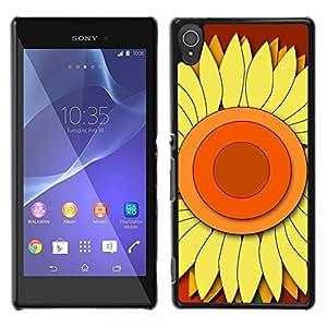 En medio de la Etapa Centro - Metal de aluminio y de plástico duro Caja del teléfono - Negro - Sony Xperia T3