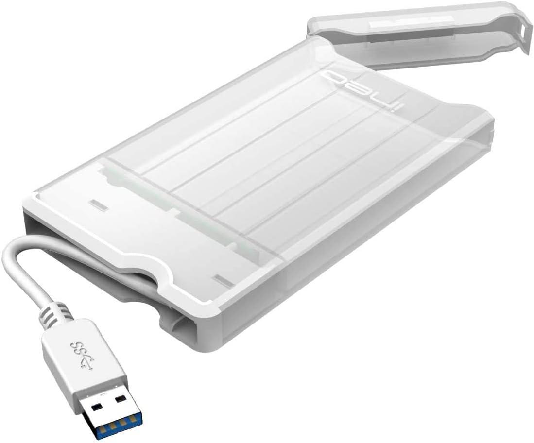 Ineo 2 5 Usb 3 0 Externes Festplatten Gehäuse Ohne Werkzeug Für 2 5 Zoll 9 5 Mm