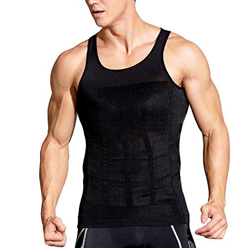 HOTER Men's Body Shaper Slimming Vest, Men's Elastic Sculpting Vest Thermal Compression Base Layer Slim Compression Muscle Tank - Man Shape Of