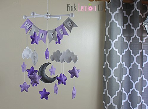 Nursery banner mobile by Pinklemonco