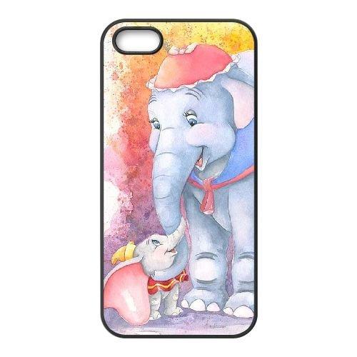 H7F42 Dumbo V2S0CR coque iPhone 5 5s cellule de cas de téléphone couvercle coque noire WW1DGS4XH