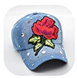 primerry Fashion Hot Drilling (Roses Denim) Hip-Hop Baseball Cap Hat (No. 4 commodity)