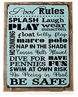 Swimming Pool Closed Red White Print Swim Rules Poster Outdoor Horizontal Notice Sign